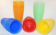 SBS Trinkbecher 0,4 Liter orange 12 Stück Kunststoffbecher Plastikbecher Partybecher