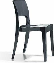 Scab Design Designer Stuhl aus Kunststoff stapelbar Hochglanz Isy Technopolymer anthrazi