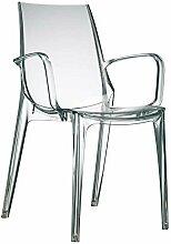 Scab Design Designer Stuhl mit Armlehnen Vanity transparen
