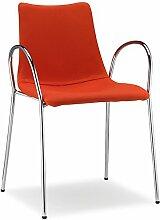 Scab Design Designer Stuhl mit Armlehnen Zebra Pop Armrests orange, Textil