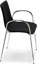 Scab Design Designer Stuhl mit Armlehnen Zebra Pop Armrests schwarz, Textil