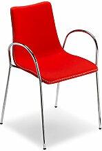 Scab Design Designer Stuhl mit Armlehnen Zebra Pop Armrests rot, Wolle