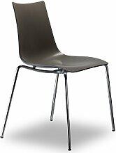 Scab Design Designer Stuhl mit Chrombeinen Zebra Technopolymer 4 Legs anthrazi