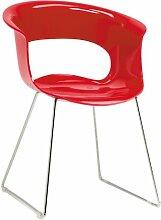 Scab Design Designer Stuhl mit Kufengestell Miss B Antishock Sledge ro