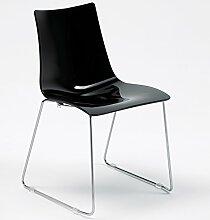 Scab Design Designer Stuhl mit Kufengestell Zebra Antishock Sledge schwarz