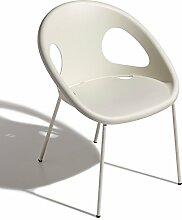 Scab Design Designer Stuhl mit lackierten Beinen Drop 4 Legs Coated linen/linen