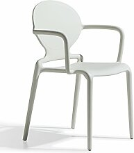 Scab Design Designer Stuhl Stapelstuhl mit Armlehnen Gio Armrests linen