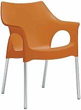 Scab Sessel Ola / Orange (4-er Set)