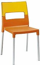 Scab Stuhl Diva / Orange- OrangeTransparent (4-er Set)