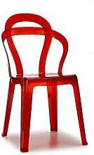 Scab Stuhl Titì Rot transparen