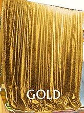 Scala 100% COTTON 46 by 90 inches Schön Tür- / Fenster-Vorhang Gold