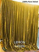 Scala 100% COTTON 50 by 120 inches Schön Tür- / Fenster-Vorhang Zitrone grün