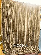 Scala 100% COTTON 50 by 95 inches Schön Tür- / Fenster-Vorhang Mokka