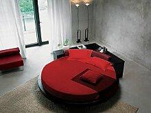 scalabedding 800tc Bett Rund 100% ägyptische Baumwolle Spannbetttuch Twin 203,2cm Durchmesser Massiv Burgund
