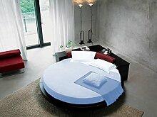 scalabedding 800tc Bett Rund 100% ägyptische Baumwolle Spannbetttuch Queen 213,4cm Durchmesser Solid Light Blau