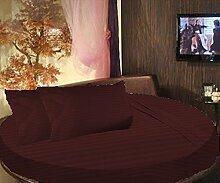 scalabedding rund Bett gestreift-Bettlaken-Set 500TC 100% ägyptische Baumwolle King 243,8cm Durchmesser Wein