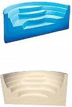 Scale Pool vorgefertigten GFK Typ Römische Transat blauem 2.50x 1.20H