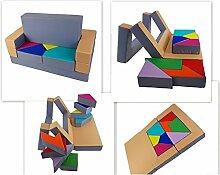 scalesport Spielsofa KG03B 4in1 Kindersofa