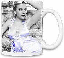 Scarlett Johansson Blue Dress Kaffee Becher