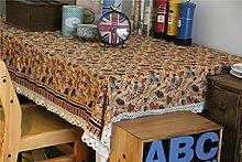 Scenic Hirtenartverzierungen Motiv Tischdecke Spitze und Baumwolle Tischdecke Restaurant Table-Abdeckung für Picknick im Freien Gebrauch, 56 Zoll von 56 Zoll