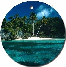 Scenic Strand Palmen Ornament rund Porzellan