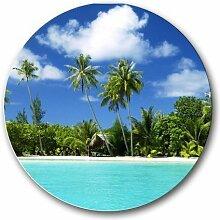 Scenic Strand Palmen rund Mousepad Mauspad tolle Geschenkidee