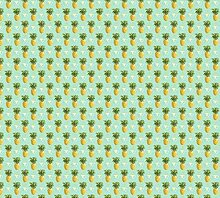 Scenolia Fototapete Ananas CURACEAO 3x2,70m Deko +