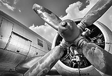 Scenolia Fototapete Aviation 3x2,70m Deko + XXL