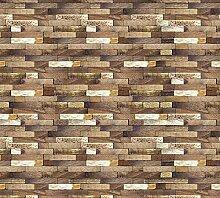 Scenolia Fototapete Deko Täuschung Holz 6x2,70m