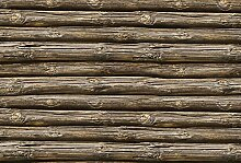 Scenolia Fototapete Panorama Fototapete Holz rund
