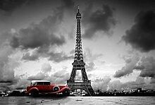 Scenolia Paris Panorama-Fototapete schwarz und