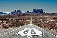 Scenolia Postertapete Road 66 3x2,70 m Deko + XXL