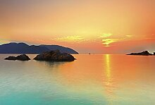 Scenolia Wandbild Panorama-Druck Orange Mood