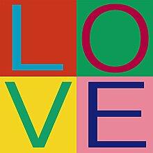 Scenolia Wandbild Plexi Deco & Design Love Girly
