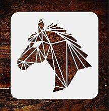 Schablone mit Pferdekopf, wiederverwendbar,