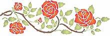 Schablone mit Rosenbordüre - 37 x 11,5 cm -