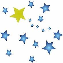 Schablone mit Sternenmotiv, wiederverwendbar,