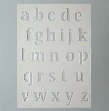 Schablone Stencil A5, Kleinbuchstaben