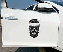 Schädel Helm Aufkleber Cool Auto Moto Fahrrad