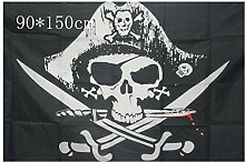 Schädel Knochen Sabres Schwerter Jolly Roger