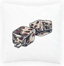 Schädel-Teufel-Kasino Schürhaken-Weinlese-Kunst Dekoratives Kissen, Kissenbezug mit Einlage/Füllung oder ohne, 45x45cm n32p