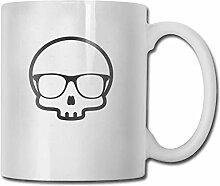 Schädel-Zeichen-Mode-Kaffeetasse-Porzellan-Becher