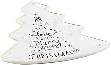 Schälchen Weihnachtsbaum aus weißem Porzellan