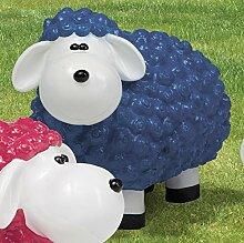 Schaf aus Polyresin, Wetterfest, blau