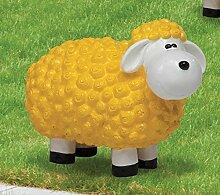 Schaf aus Polyresin, Wetterfest, gelb