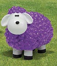 Schaf aus Polyresin, Wetterfest, lila