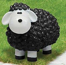 Schaf aus Polyresin, Wetterfest, schwarz
