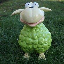 Schaf grün Molly Tier Lamm Tierfigur Bunt Dekofigur Deko Garten Ostern