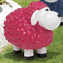 Schaf Polyresin, Wetterfest, brombeer
