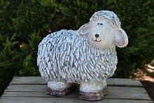 Schaf Steinoptik Tier Lamm Tierfigur Dekofigur